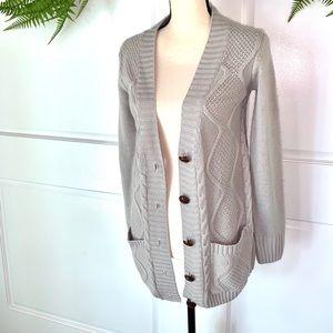 Gray Sweater Cardigan Small